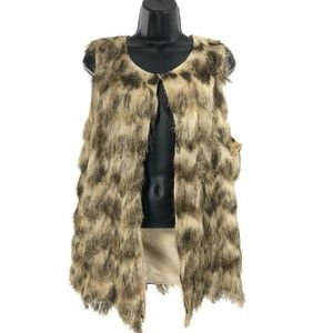 Travelers Collection By Chico's Faux Fur Vest